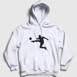 Vole Kapşonlu Sweatshirt beyaz