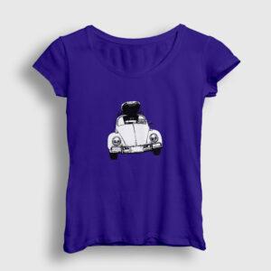 Vosvos Travel Kadın Tişört lacivert
