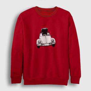 Vosvos Travel Sweatshirt kırmızı
