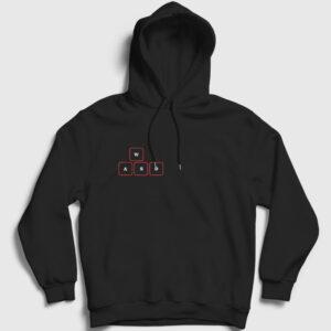 WASD Kapşonlu Sweatshirt siyah