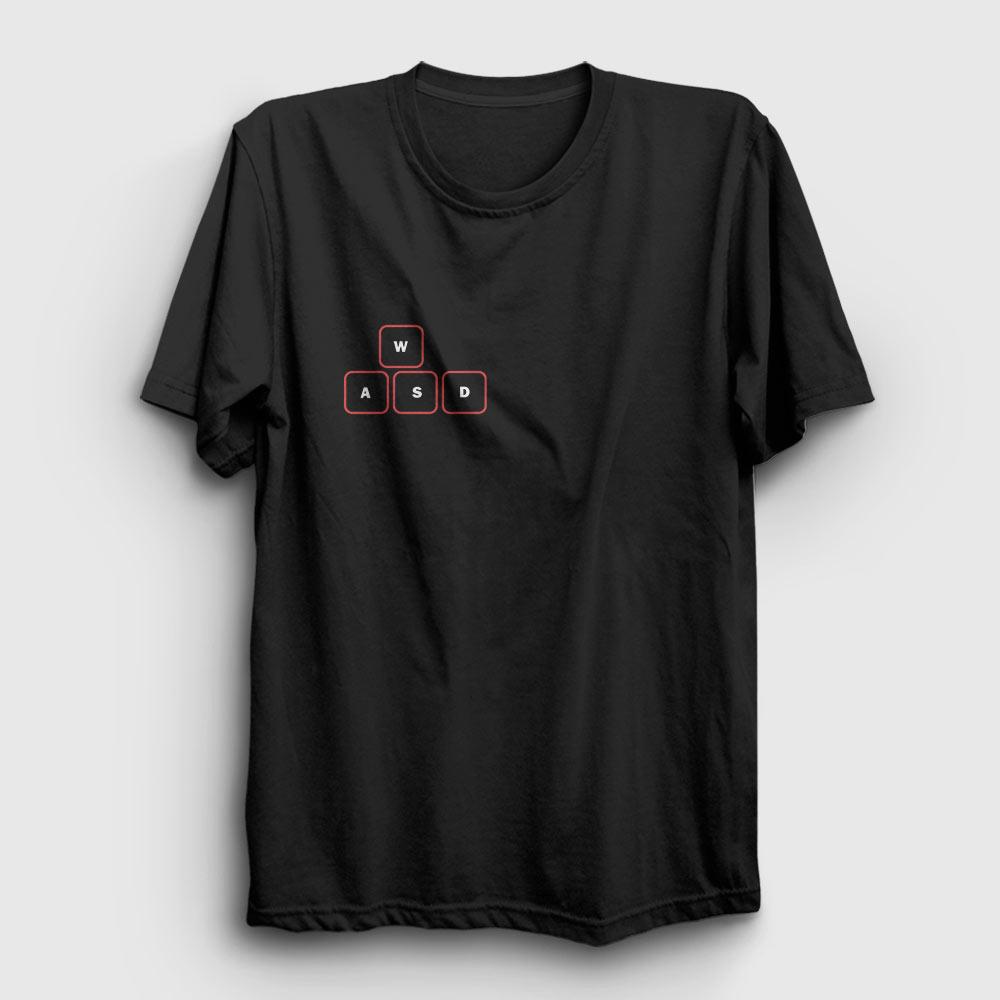 wasd tişört siyah