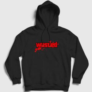 Wasted Kapşonlu Sweatshirt siyah