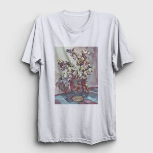 Watercolor Flowers Tişört beyaz