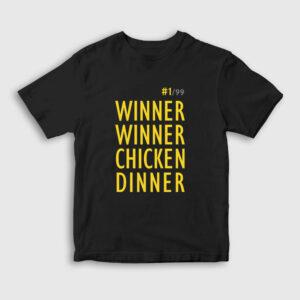 Winner Winner Chicken Dinner Çocuk Tişört siyah