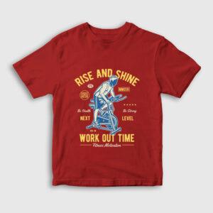 Work Out Time Çocuk Tişört kırmızı