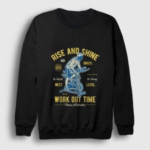 Work Out Time Sweatshirt siyah