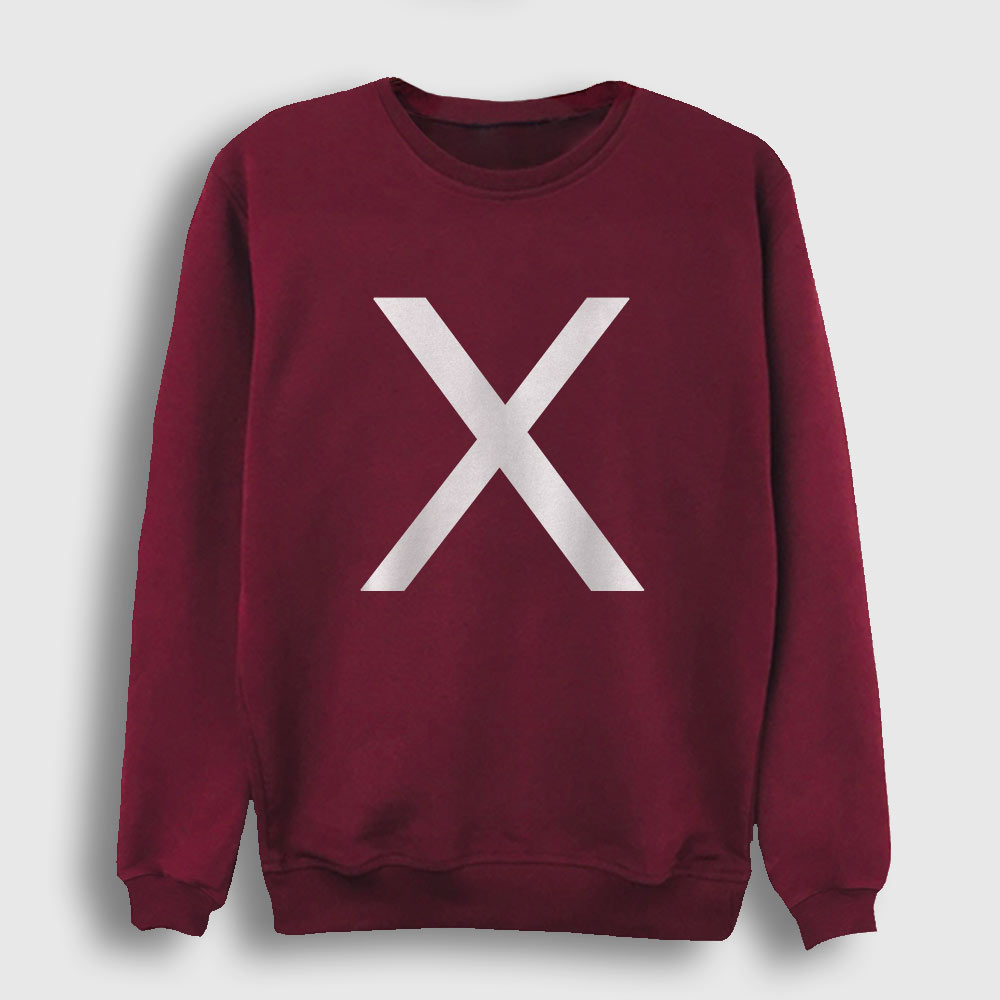 X Sweatshirt bordo