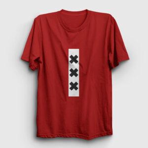 XXX Amsterdam Tişört kırmızı