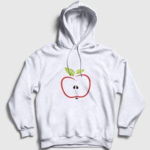 Yarım Elma Kapşonlu Sweatshirt beyaz