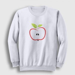 Yarım Elma Sweatshirt beyaz