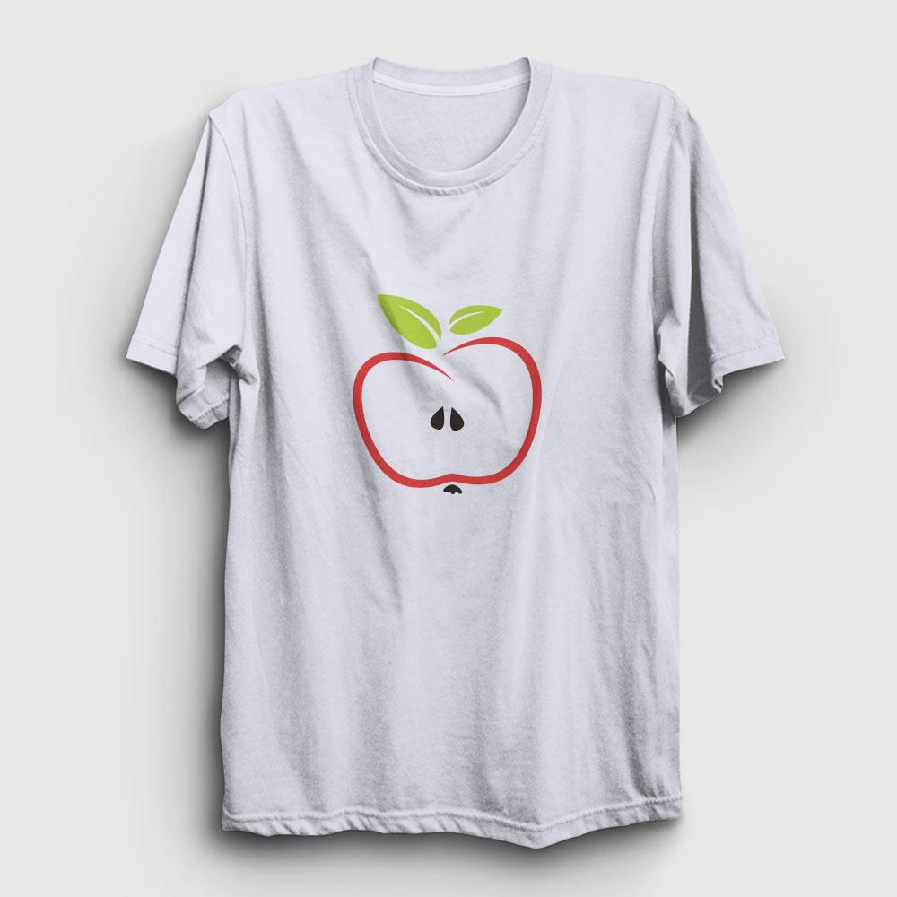 yarım elma tişört beyaz