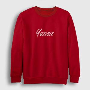 Yazısız Sweatshirt kırmızı