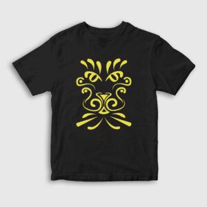 Yellow Dragon Çocuk Tişört siyah
