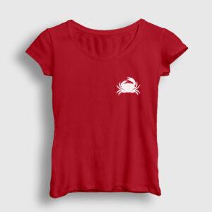 Yengeç Kadın Tişört kırmızı