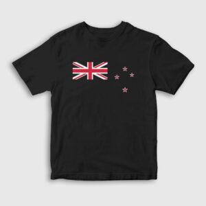 Yeni Zelanda Çocuk Tişört siyah