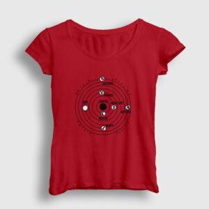 Yörünge Kadın Tişört kırmızı