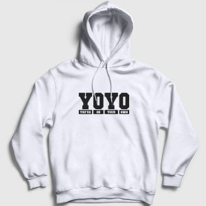 YOYO Kapşonlu Sweatshirt - You are on your own beyaz