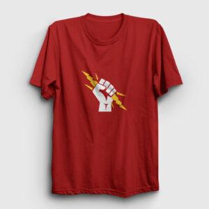 Yumruk Zeus Tişört kırmızı