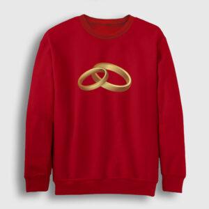Yüzük Sweatshirt kırmızı