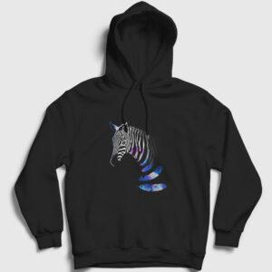 Zebra Kapşonlu Sweatshirt siyah