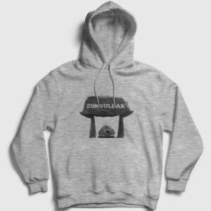 Zonguldak Kapşonlu Sweatshirt gri kırçıllı